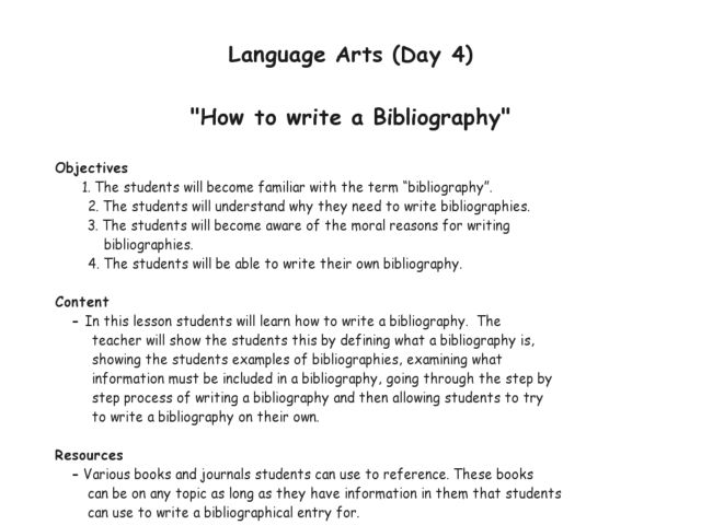 How To Write A Bibliography For A Research Paper