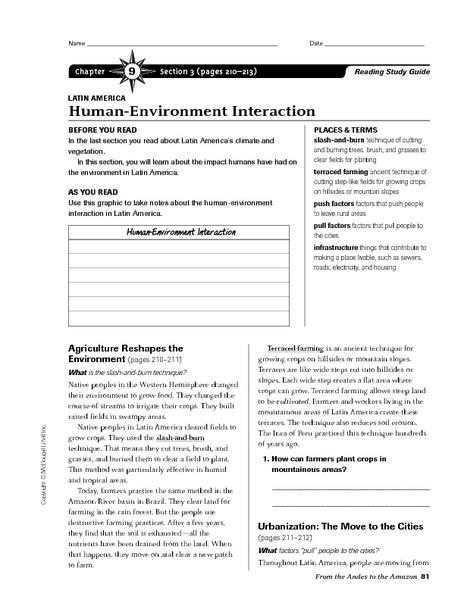 Human-Environment Interaction- Latin America 7th - 8th Grade ...