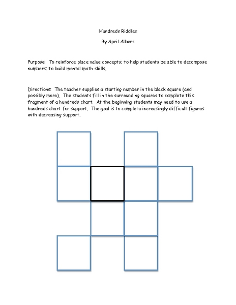Place Value Riddles Lesson Plans & Worksheets Reviewed by Teachers