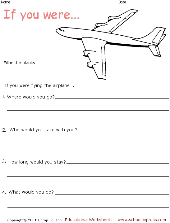 Airplane Worksheets - Davezan
