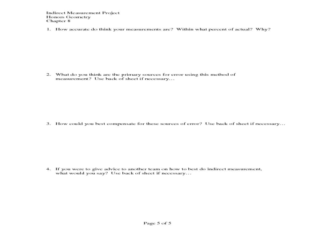 Worksheets Indirect Measurement Worksheet measurement worksheets photos toribeedesign indirect toribeedesign