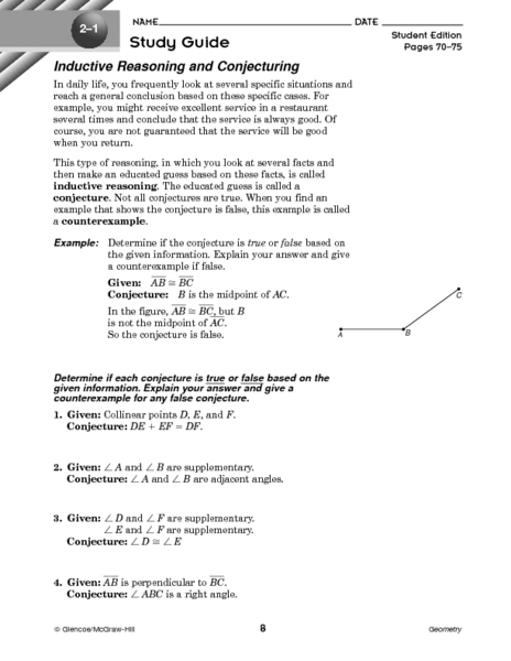 Printables Inductive Reasoning Worksheet inductive reasoning and conjecturing 10th grade worksheet lesson planet