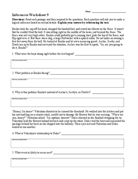 2nd Grade » Inference Worksheets 2nd Grade  Printable Worksheets Guide for Children and Parents