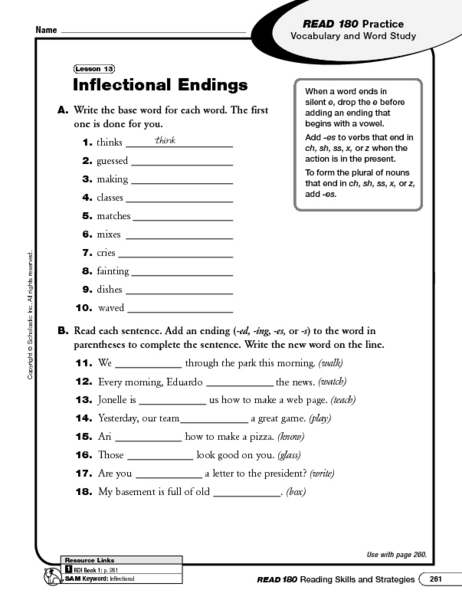 Printables Inflectional Endings Worksheet inflectional endings ing lesson plans worksheets endings