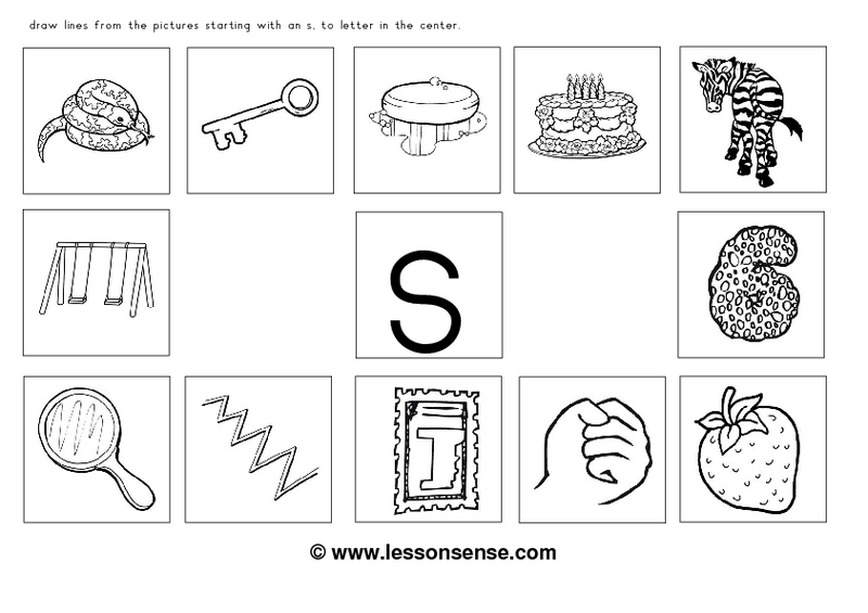 Free Worksheets S Worksheets For Kindergarten Free Math – S Sound Worksheets
