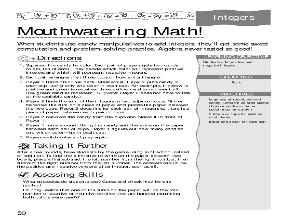 math worksheet : integer football and mouthwatering math 5th  7th grade worksheet  : 7th Grade Math Worksheets Integers
