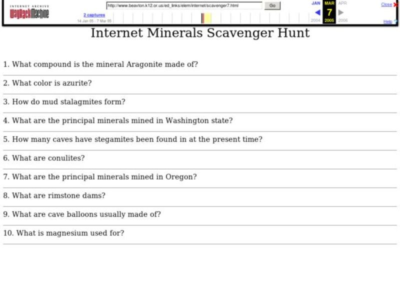 Internet Scavenger Hunt Worksheet Sharebrowse – Internet Scavenger Hunt Worksheet