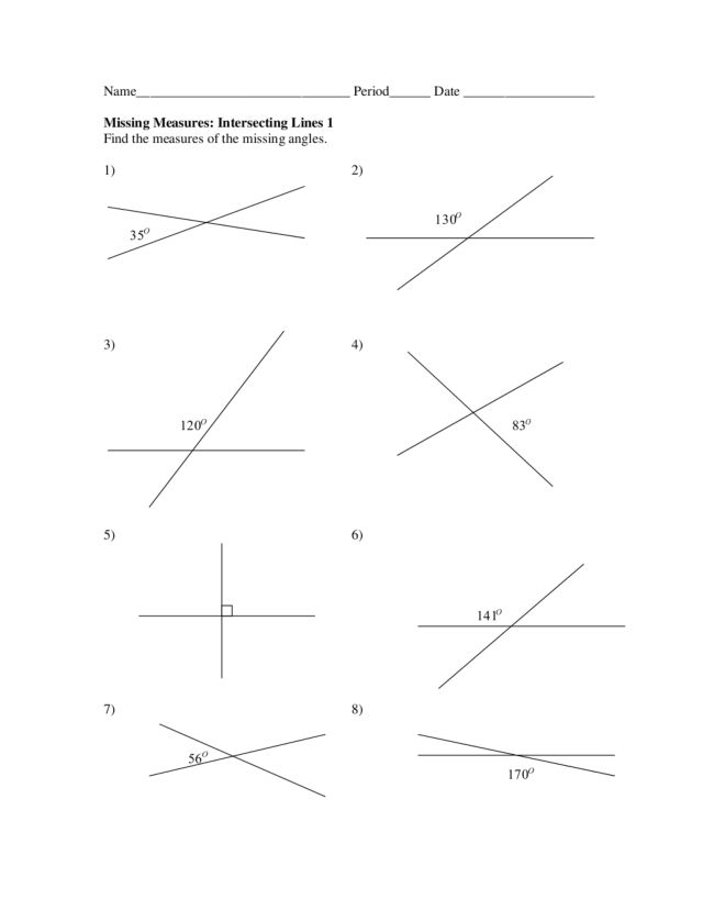worksheets intersecting lines worksheet opossumsoft worksheets and printables. Black Bedroom Furniture Sets. Home Design Ideas