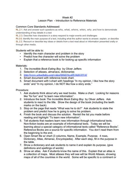 reference materials worksheets | IE-Worksheet