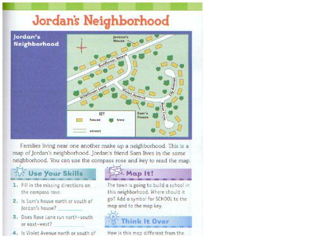 Jordans Neighborhood Using a Compass Rose 1st 3rd Grade – Compass Rose Worksheet