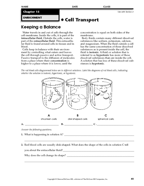 Worksheets Hypertonic Hypotonic Isotonic Worksheet keeping a balance 9th 12th grade worksheet lesson planet