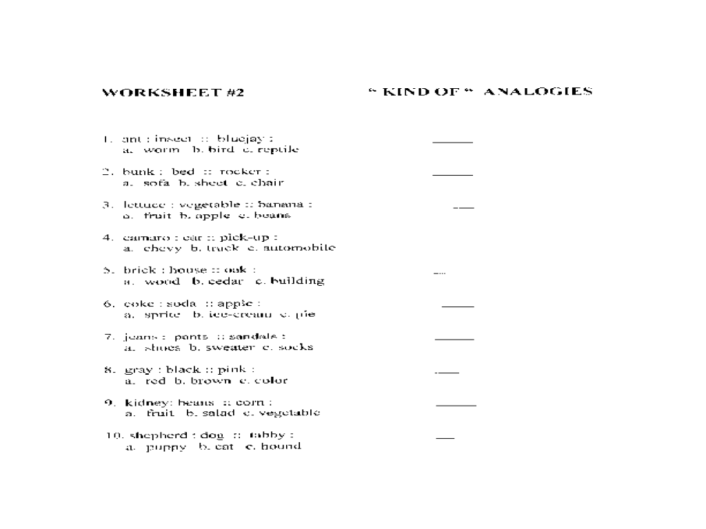 worksheet Analogies Worksheet Luizah Worksheet And Essay Site – Analogy Worksheets for 5th Grade