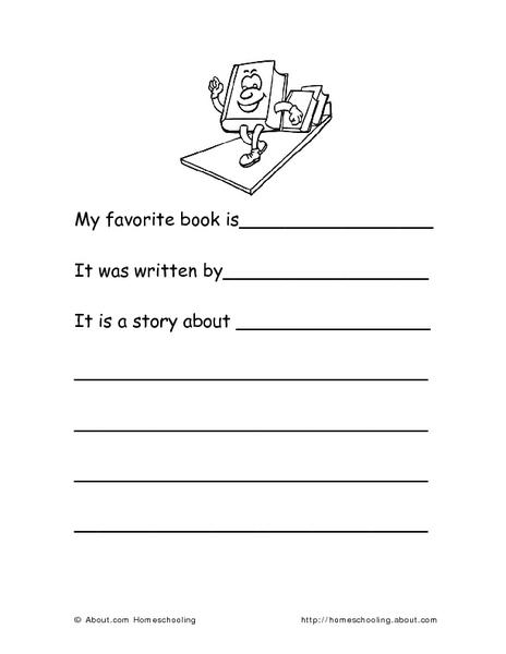 printable kindergarten book reports