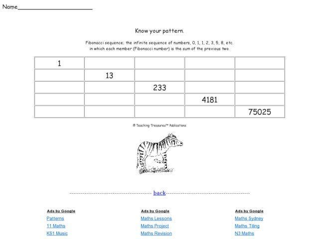 Fibonacci Worksheet: KS3 KS4 by MrBartonMaths - Teaching Resources ...