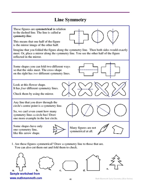 math worksheets math worksheets for 4th grade symmetry. Black Bedroom Furniture Sets. Home Design Ideas