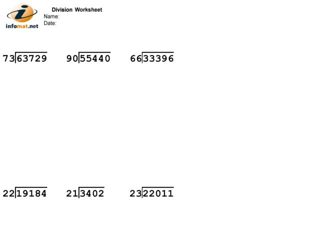 Number Names Worksheets long division remainder Free Printable – Long Division Worksheets No Remainders