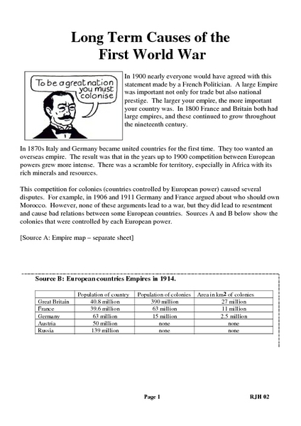 Wwi Worksheets For 5th Grade - The Best and Most Comprehensive ...