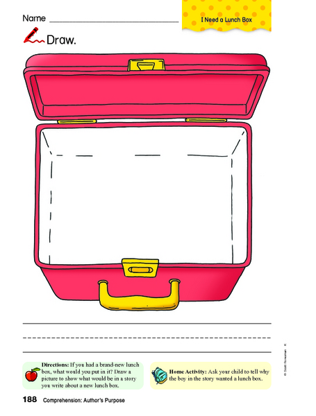 Related Keywords & Suggestions for lunch box worksheet
