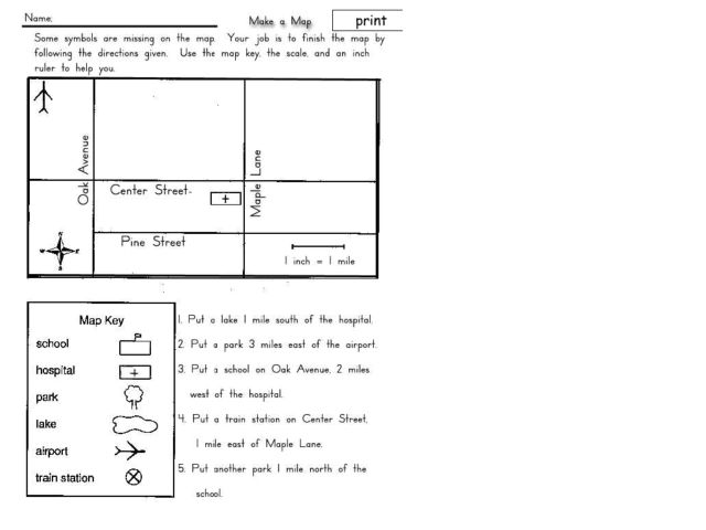 Pictures Map Worksheets For 3rd Grade Getadating – Map Key Worksheet