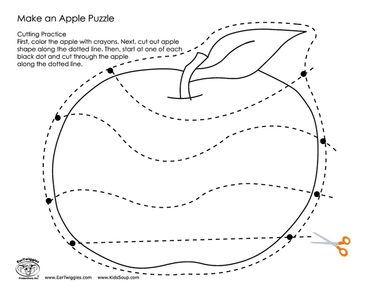 Apple Puzzle Printable Make an Apple Puzzle Pre-k