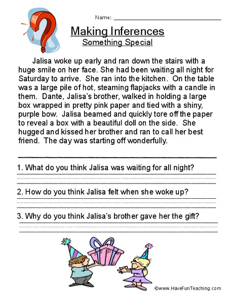 Drawing Conclusions And Making Inferences Worksheets