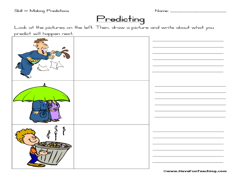 Worksheet Making Predictions Worksheets making predictions 2nd 3rd grade worksheet lesson planet