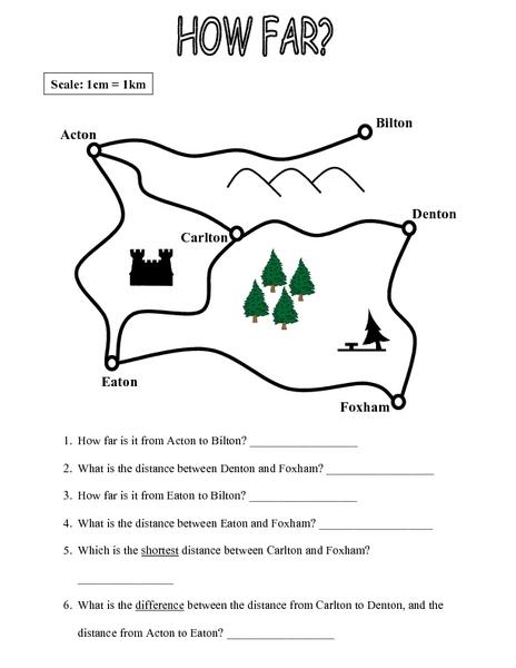3rd Grade Map Scale Worksheets - Grade Worksheets