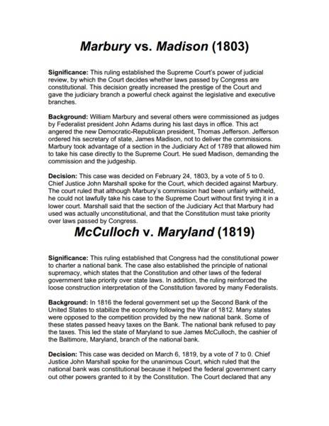 mc culloch vs maryland essay Samantha turner schnorbus history 101 october 3 2014 mcculloch v maryland maryland s failed tax attempt of 1817 in order to solve the problem of.