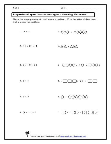 match-the-number-sentence-worksheet  Th Grade Math Worksheets With Parentheses on parentheses math worksheets, missing number worksheets for first grade, colon worksheets for 7th grade, parentheses worksheets english,