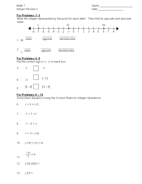 Common core math worksheets 9th grade