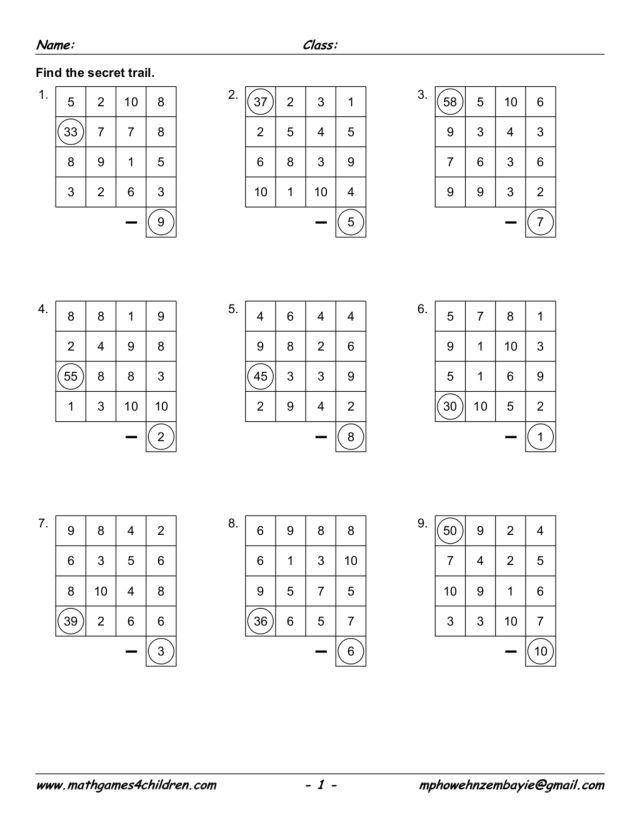 math worksheet : math game secret trail 2nd  3rd grade worksheet  lesson pla  : Math Game Worksheet