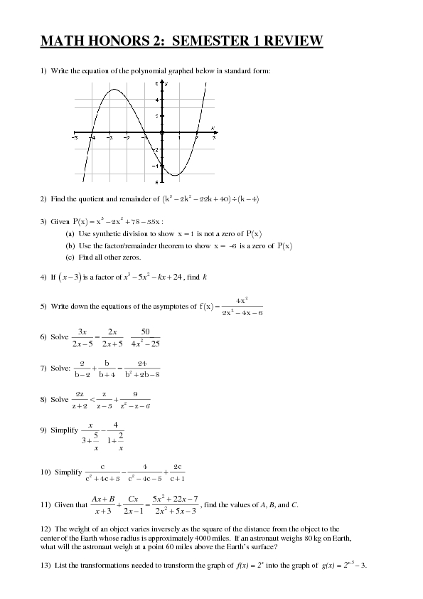 Printables Algebra 1 Review Worksheet algebra 1 review worksheets intrepidpath 7th grade honors for kids worksheetsmon