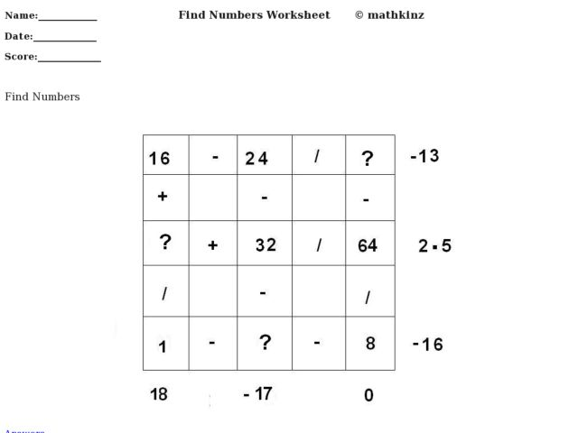 math worksheet : math puzzle mixed operations 4th  5th grade worksheet  lesson  : Mixed Operations Math Worksheets