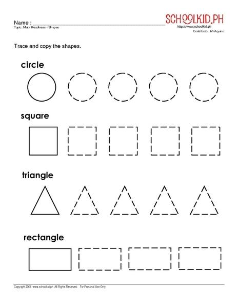 math worksheet : math readiness shapes kindergarten  1st grade worksheet  lesson  : Kindergarten Readiness Worksheets