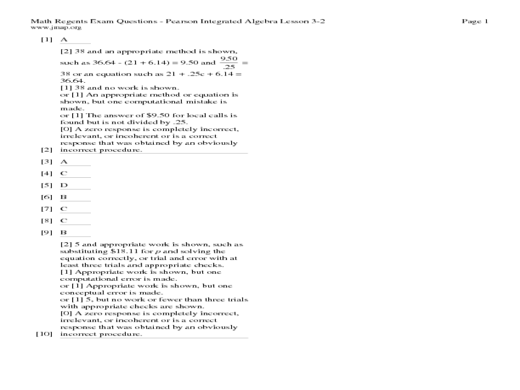 Math Regents Exam Questions Solving MultiStep Equations 9th – Multi-step Equations Worksheets