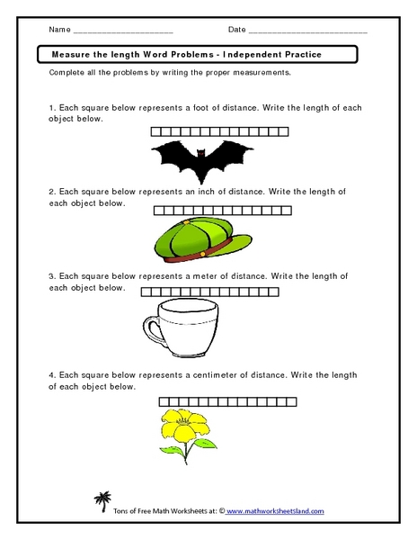 Measurement Word Problems Worksheets - Davezan