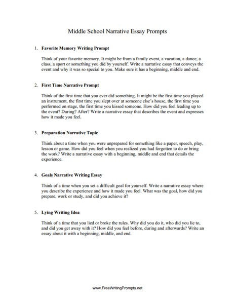 writing personal essays middle school Believe essay appropriate both for inclusion in school writing  for additional  student essays) to demonstrate the characteristics of a personal.