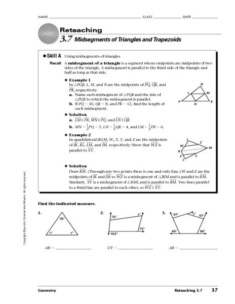 triangle midsegment worksheet pdf. Black Bedroom Furniture Sets. Home Design Ideas