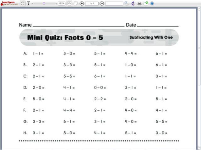 Printables Addition Timed Test Worksheet addition timed test worksheets davezan number names facts printable
