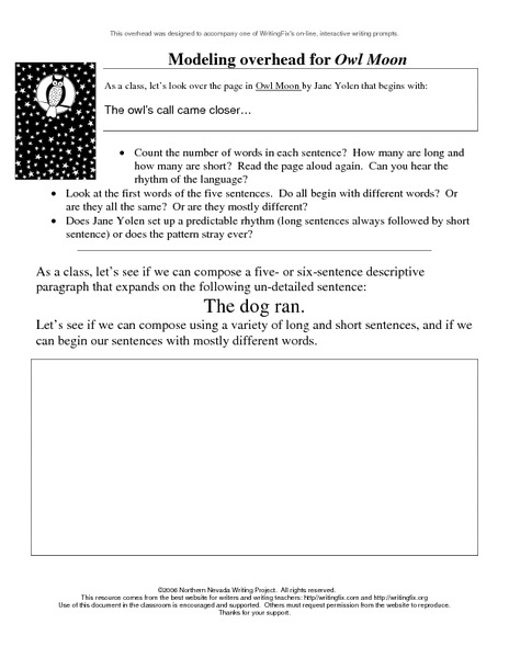Collection Owl Moon Worksheets Photos - Studioxcess