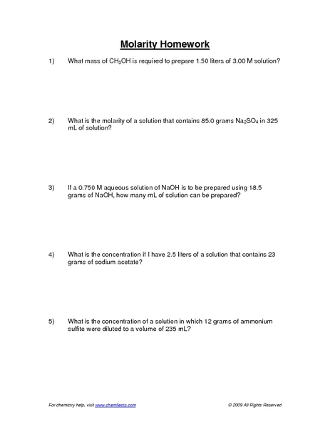 Worksheets Molarity Worksheet collection of molarity practice problems worksheet sharebrowse m sharebrowse