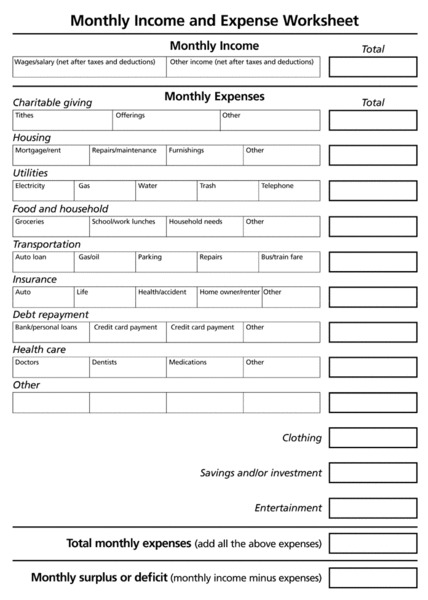 Worksheets Income Worksheet income worksheet printable daily revenue worksheet