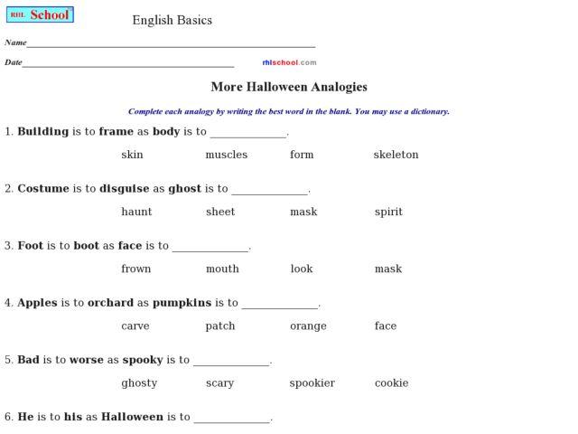 analogies worksheets laveyla – Analogies Worksheet