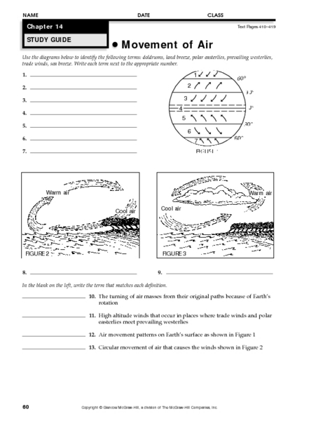 Movement of Air 7th - 9th Grade Worksheet | Lesson Planet
