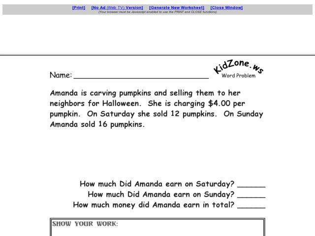 Halloween Word Problems 4th Grade Math Halloween Comstume – Halloween Math Word Problems Worksheets