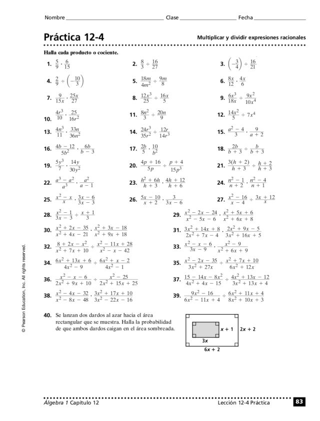 Multiply and Divide Rational Expressions 8th 10th Grade – Multiply and Divide Rational Expressions Worksheet