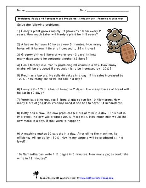 Percent word problems worksheet kidz activities solving percent problems worksheet open sharon gq ibookread PDF