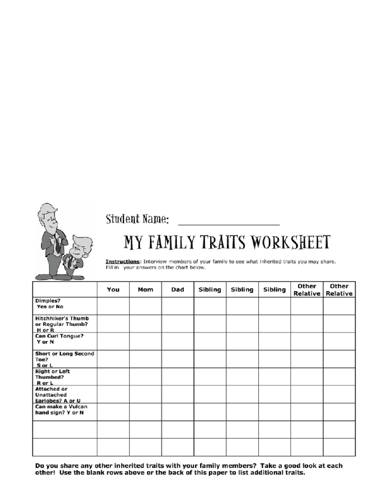 Worksheets Inherited Traits Worksheet inherited traits worksheet 3rd intrepidpath 7th grade intrepidpath