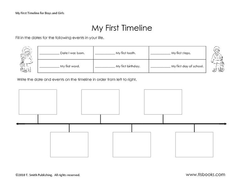 2nd grade history timeline worksheets