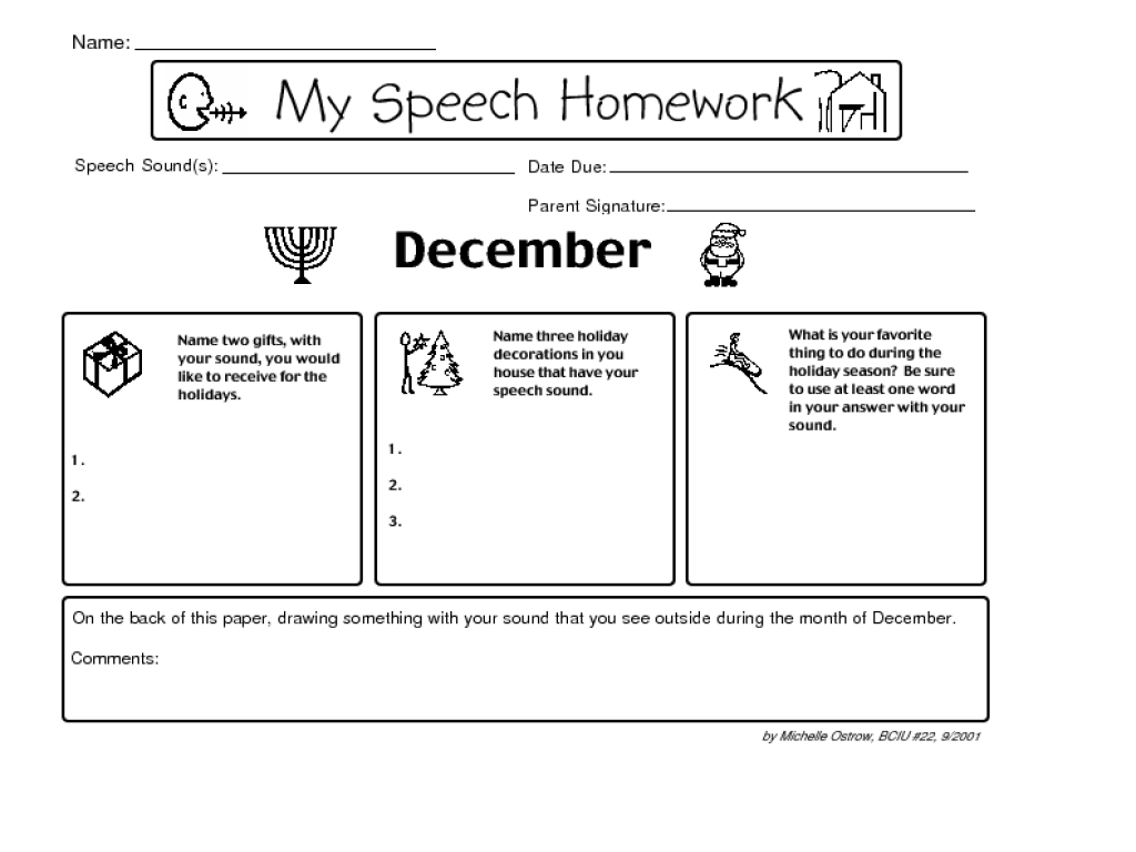 Speech on homework